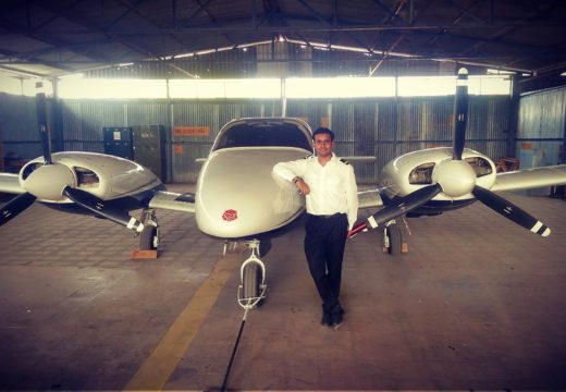 Shubham with Aircraft